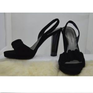 Diane von Furstenberg Black Suede Pumps Size 7.5